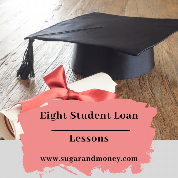 Blog Graphic for Eight Student Loan Lessons